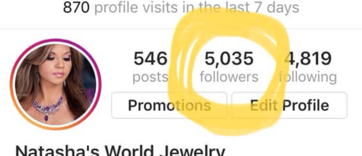 Natashas World Jewelry 5000 Follower Club 775 Media De La Rosa Productions Instagram May 2019 copy